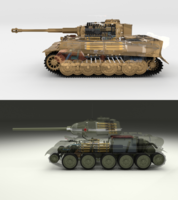 T34-85 Tiger Tank Late Pack with Interior and Engine Bay 3D Model