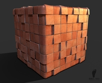 Red Ceramic Tiles 3d Game Textures