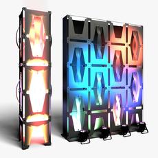 Stage Decor 36 Modular Wall Column 3D Model