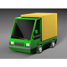 Cartoon electric car 3D Model
