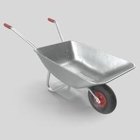 Wheelbarrow Lowpoly 3D Model