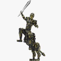 Armored Robot character low poly 3D Model