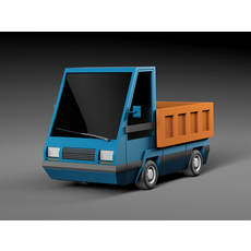 Cartoon electric car v2 3D Model