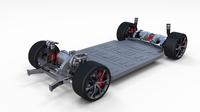 2020  Tesla Roadster 3 Motor Chassis 3D Model