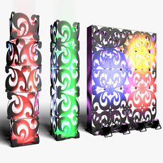 Stage Decor 08 Modular Wall Column 3D Model