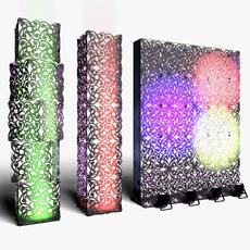 Stage Decor 10 Modular Wall Column 3D Model
