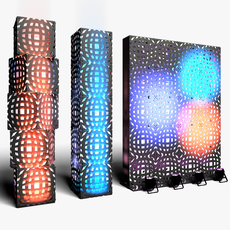 Stage Decor 12 Modular Wall Column 3D Model