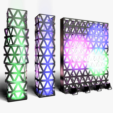 Stage Decor 14 Modular Wall Column 3D Model