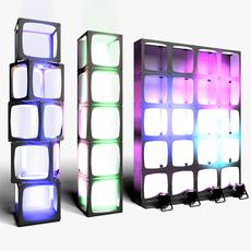 Stage Decor 15 Modular Wall Column 3D Model