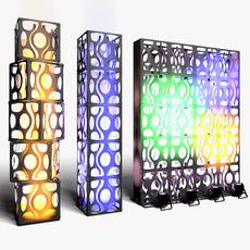 Stage Decor 16 Modular Wall Column 3D Model