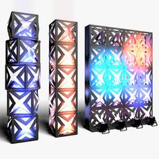 Stage Decor 17 Modular Wall Column 3D Model