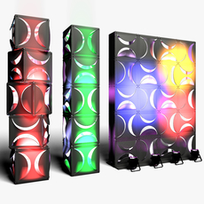 Stage Decor 18 Modular Wall Column 3D Model