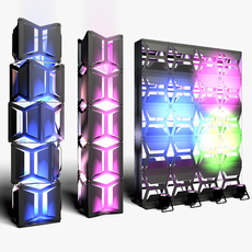 Stage Decor 19 Modular Wall Column 3D Model