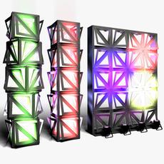 Stage Decor 20 Modular Wall Column 3D Model