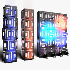 Stage Decor 21 Modular Wall Column 3D Model