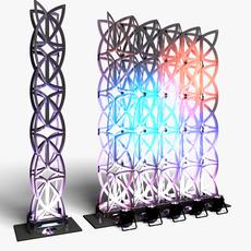 Stage Decor 22 Modular Wall Column 3D Model