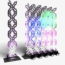 Stage Decor 23 Modular Wall Column 3D Model