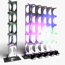Stage Decor 24 Modular Wall Column 3D Model