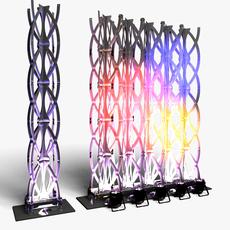 Stage Decor 27 Modular Wall Column 3D Model