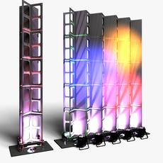 Stage Decor 28 Modular Wall Column 3D Model