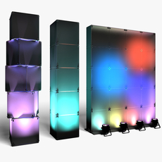 Stage Decor 29 Modular Wall Column 3D Model