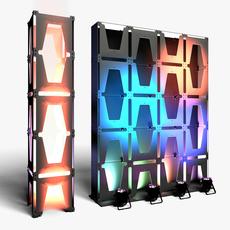 Stage Decor 30 Modular Wall Column 3D Model