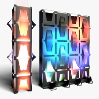 Stage Decor 31 Modular Wall Column 3D Model