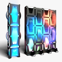 Stage Decor 32 Modular Wall Column 3D Model