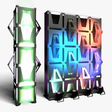 Stage Decor 33 Modular Wall Column 3D Model
