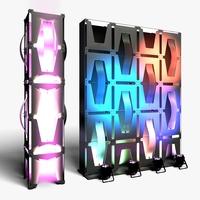 Stage Decor 35 Modular Wall Column 3D Model