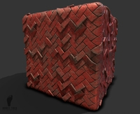 Herringbone Brick Pattern Game Ready Texture
