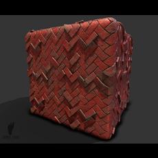 Herringbone Brick Pattern Game Ready Texture