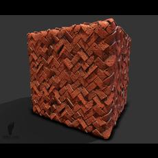 Orange Herringbone Brick Pattern 3d Game Texture!