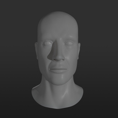 Male Head Base Mesh 3D Model