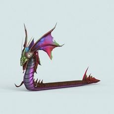Cartoon Monster Dragon 3D Model