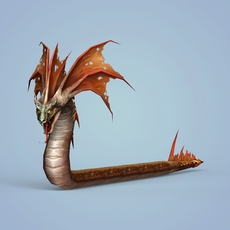 Fantasy Monster Snake 3D Model