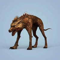 Fantasy Monster Dog 3D Model