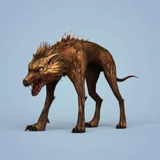 Fantasy Monster Dog 3D Model