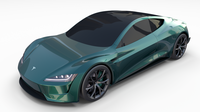 Tesla Roadster Green 3D Model