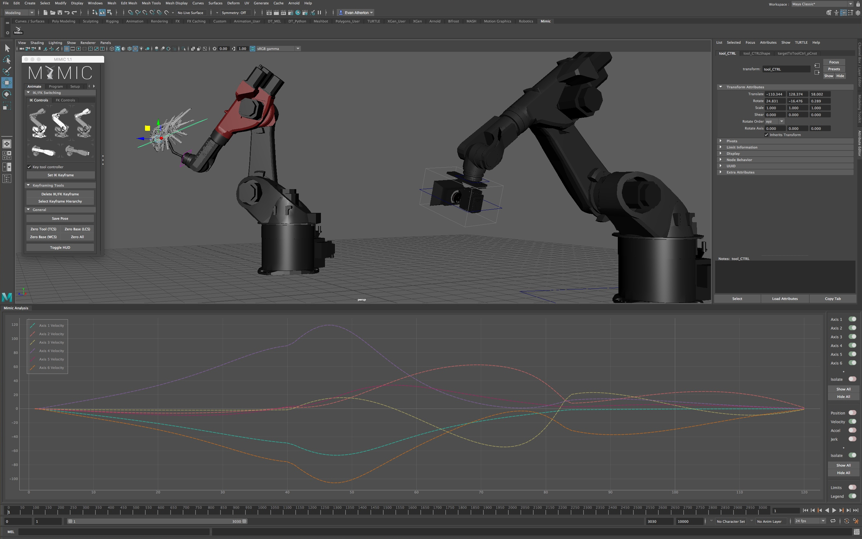 Mimic: Industrial Robot Animation and Control for Maya - Free Misc