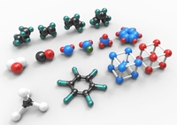 Collection of models of atoms 3D Model