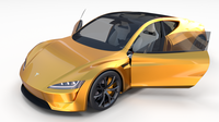 Tesla Roadster Yellow with Interior 3D Model