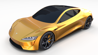 Tesla Roadster Yellow 3D Model