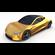 Tesla Roadster Yellow 3D Model