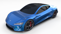 Tesla Roadster Electric Blue 3D Model