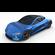 Tesla Roadster Electric Blue 3D Model