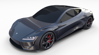 Tesla Roadster Midnight Silver 3D Model