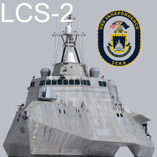 US Navy Littoral Combat Ship LCS-2 Independence 3D Model