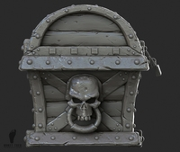 3d Pirate Treasure Chest 3D Model