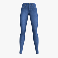 Blue Jeans for woman 3D Model